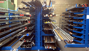 Profile rack rotating arms tubes