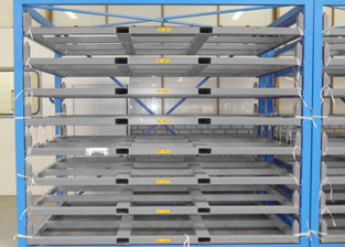 Metal sheet rack forklift