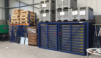 Very compact sotrage system for aluminium, steel, ... sheets