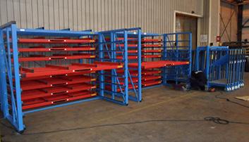 Opslagsystemen voor horizontale en verticale opslag platen