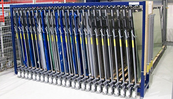 storage metal sheets rack vertical